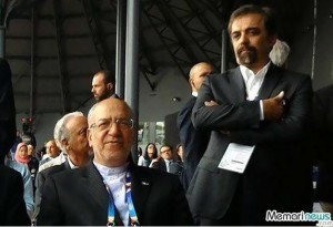 محمدرضا نعمتزاده در کنار دامادش، محمد محبعلی